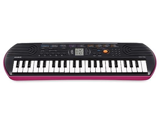 160 opinioni per Casio SA-78 Mini Tastiera, 44 Tasti, Nero/Rosa