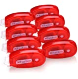 XFasten Double Sided Adhesive Tape Roller, 0.3-inch by 360-Inch, 8-Pack, Permanent Adhesive Dots Roller Applicator, Acid-Free and Archival Safe for Scrapbooks