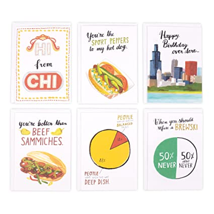 Amazon hallmark studio ink chicago greeting card assortment 6 hallmark studio ink chicago greeting card assortment 6 cards with envelopes m4hsunfo