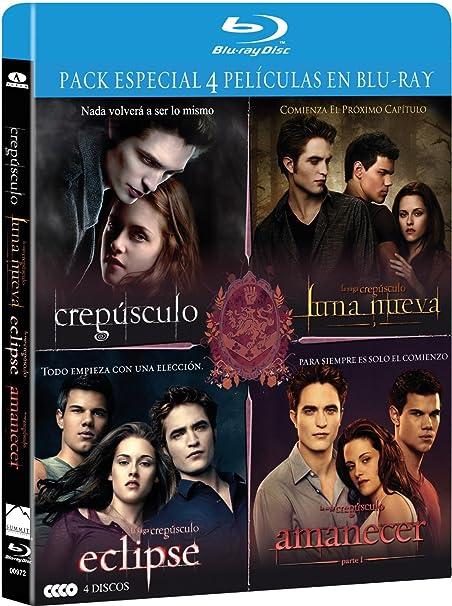 Pack Saga Crepusculo 1 - 4 (Bd) [Blu-ray]: Amazon.es: Stewart, Kristen, Pattinson, Robert, Condon, Bill, Stewart, Kristen: Cine y Series TV