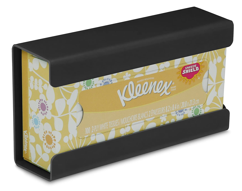 TrippNT 51189 Plastic Wall Mountable Kleenex Box Holder, 9-7/8' Width x 5-1/4' Height x 2-3/4' Depth, Small, Black 9-7/8 Width x 5-1/4 Height x 2-3/4 Depth