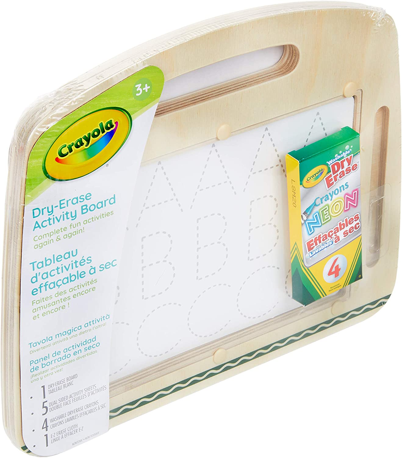 Crayola Wooden Alphabet Blocks with Dry Erase Surface 32Piece Gift for Toddlers 04-0147 Letter Blocks