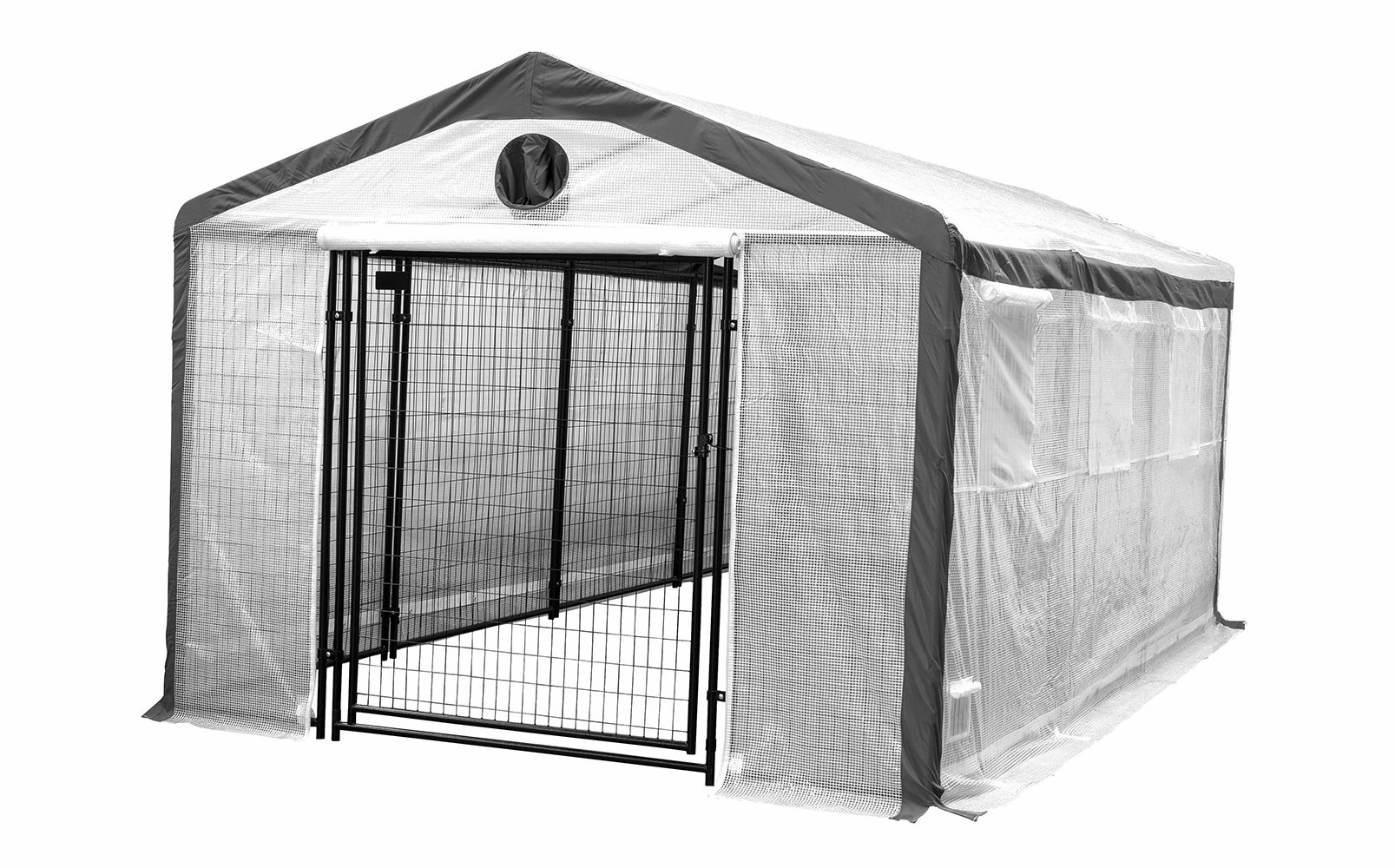 Greenhouse for Home Growers and Horticulturists - Weatherguard Secure Peak Roof Garden Hot House Fully Enclosed - Heavy Duty 6' High Welded Steel Panels and Lockable Gate - Vent ready for adding odor eliminating fan and filtration system. (10'W x 15'L x 8
