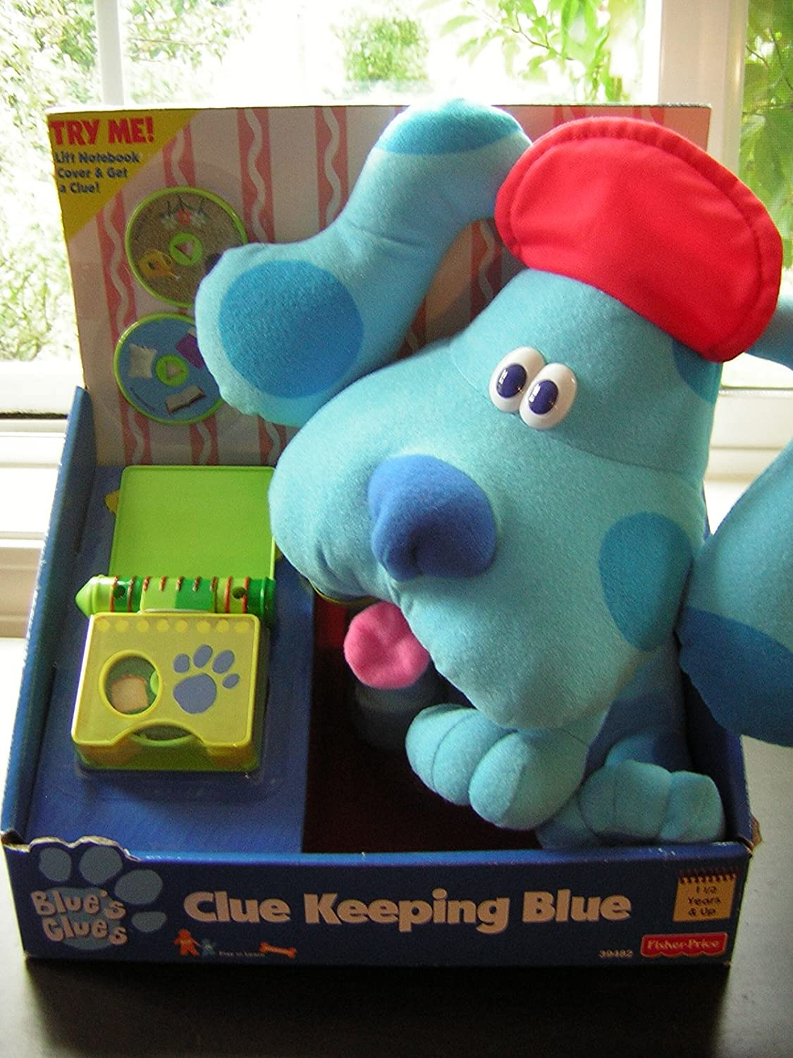 amazon com blue u0027s clues clue keeping blue plush with handy