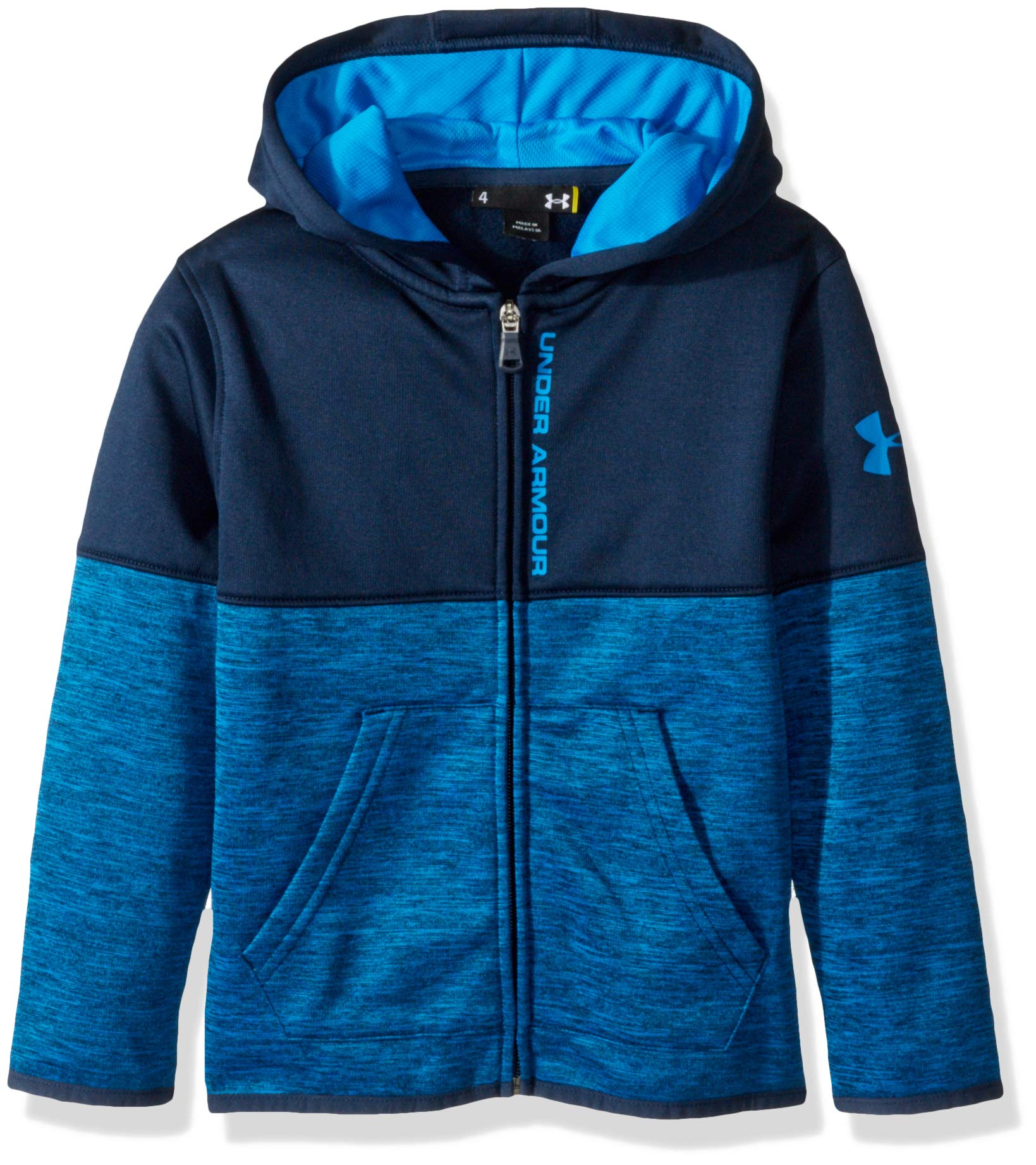Under Armour Boys' Little Zip Up Hoody, Blue Circuit Slash 7