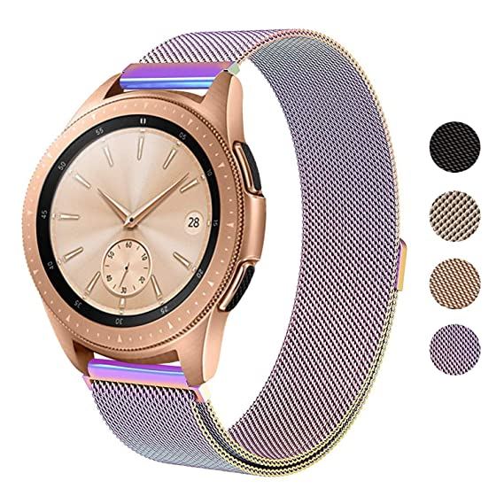 SWEES Milanese Band Compatible Samsung Galaxy Watch 42mm, 20mm Magnetic Stainless Steel Metal Replacement Band for Galaxy Watch 42mm, Gear Sport, Gear ...