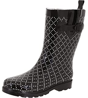 1f6f09c49ce9 Capelli New York Ladies Shiny Umbrella Mid-Calf Rain Boot