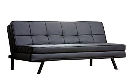 Amazon.com: Abbyson Bayside Leather Convertible Sofa with Double ...
