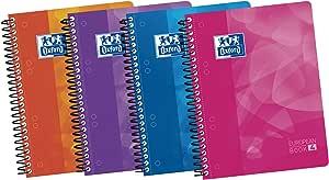 Oxford Lagoon - Pack de 5 cuadernos espiral de tapa extradura, A5+: Amazon.es: Oficina y papelería