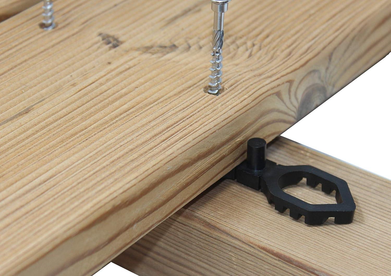 Terrassendielen Abstandhalter THEILO Terrassfix 4//7 mm 150 St/ück Dielenabstand 4 mm 150 St/ück