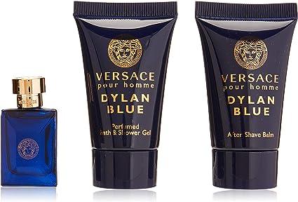 Versace Versace Pour Homme Dylan Blue Edt 5 Ml + Sprchový Gel 25 Ml + Balzám Po Holení 25 Ml 55 ml