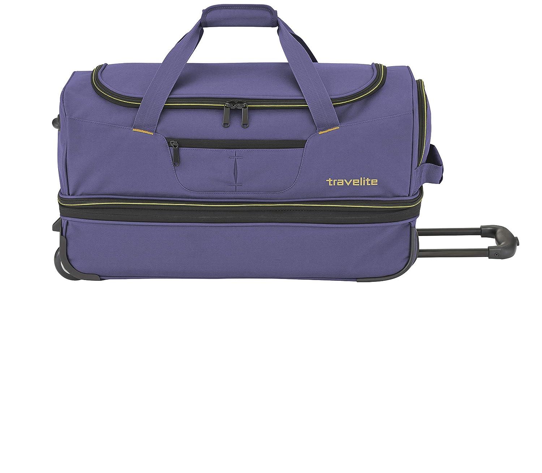 Travelite Basics Trolley Reisetasche Auf Rollen 55cm in DREI Farben Cabas 55 Centimeters 51 Bleu erweiterbar Auf 64 Liter Volumen Marine//Orange