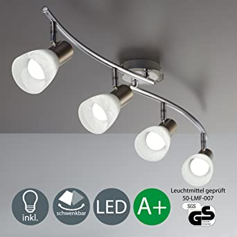 led lmpara de techo focos led lmpara led barra de cuatro focos led orientable