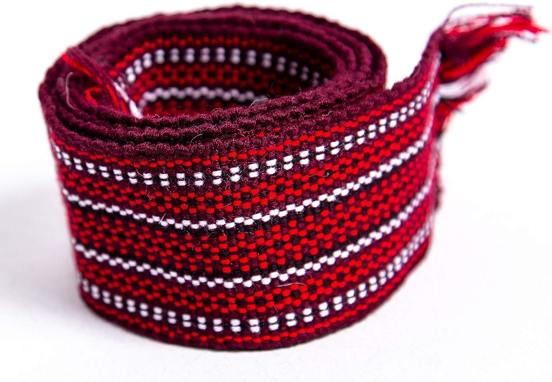 Ukrainian vyshyvanka red black belt Ukraine Textil