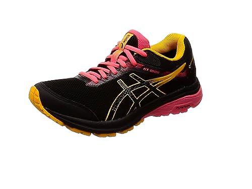 Asics Gt-1000 7 G-TX, Zapatillas de Running para Mujer, Negro (Black/Amber 001), 38 EU: Amazon.es: Zapatos y complementos