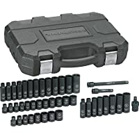 Deals on GearWrench 84916N SAE/Metric 3/8-inch Drive Impact Socket Set 44 Piece