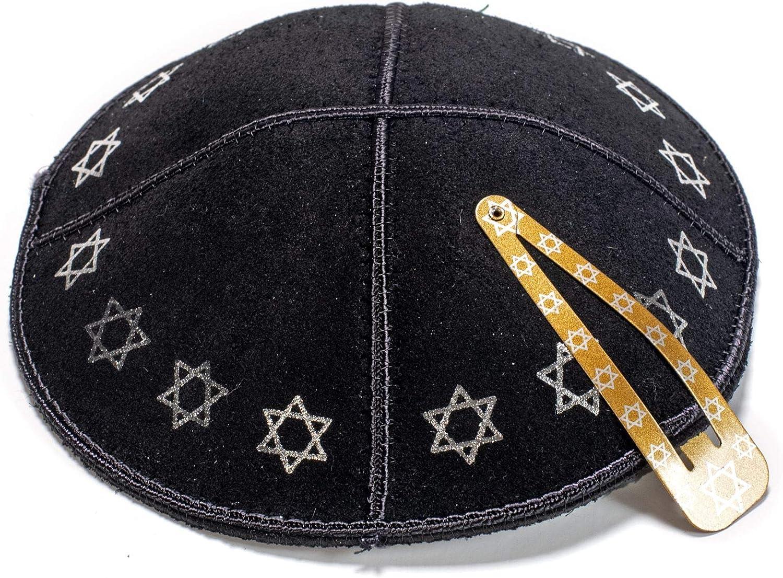 Cuir noir et or Kippa Kippa juive Yamaka Kippa Isra/ël Cap Judaica