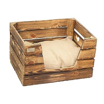 Hervorragend Bett oder Sofa für Hunde und Katzen aus alten Obstkisten WJ12