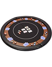 Riverboat Gaming Compact Folding Poker Table Top in Black Speed Cloth with Case - 120cm