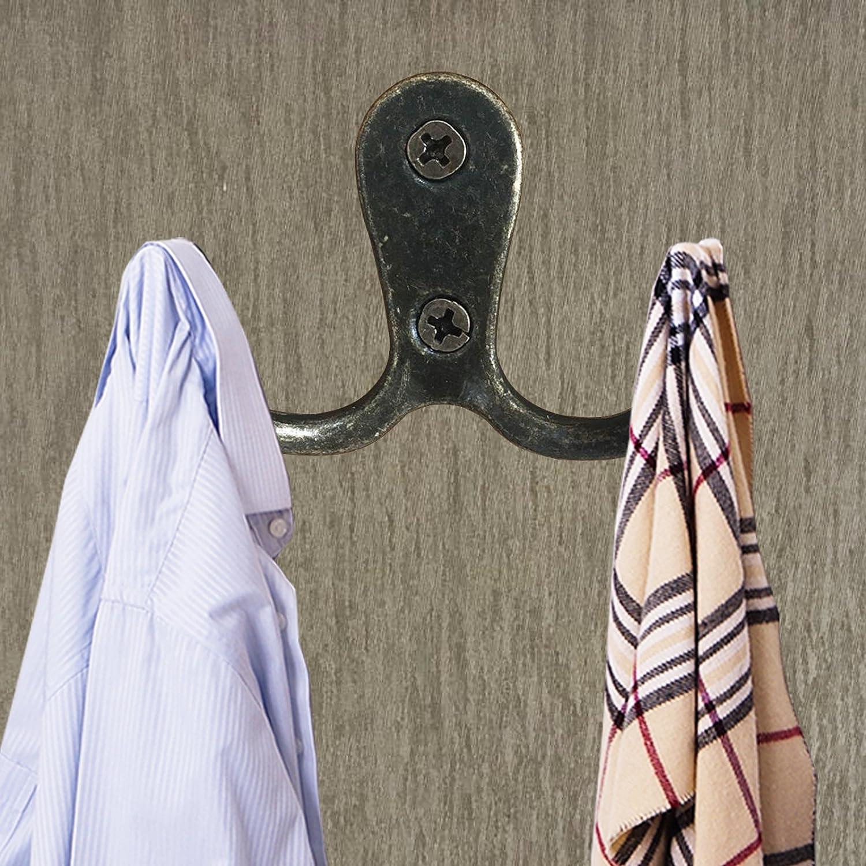 bronze Umsole Lot de 10/crochets doubles r/étro /à suspendre avec 20/vis Matte