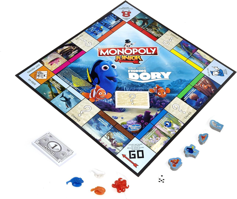Hasbro b8618 – Juego de Bandeja – Monopoly Junior – Dory: Amazon.es: Juguetes y juegos