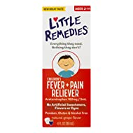 LittleRemedies Children's Fever & Pain Reliever withAcetaminophen| Grape | 4 FL OZ