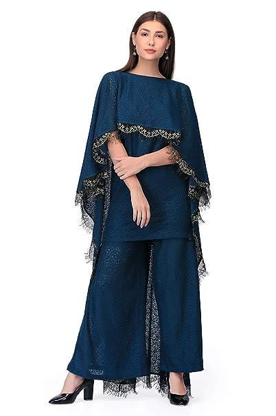 b232f9757a55 Femina Women s Cotton Lace Ethnic Kurti Palazzo Set  Amazon.in ...