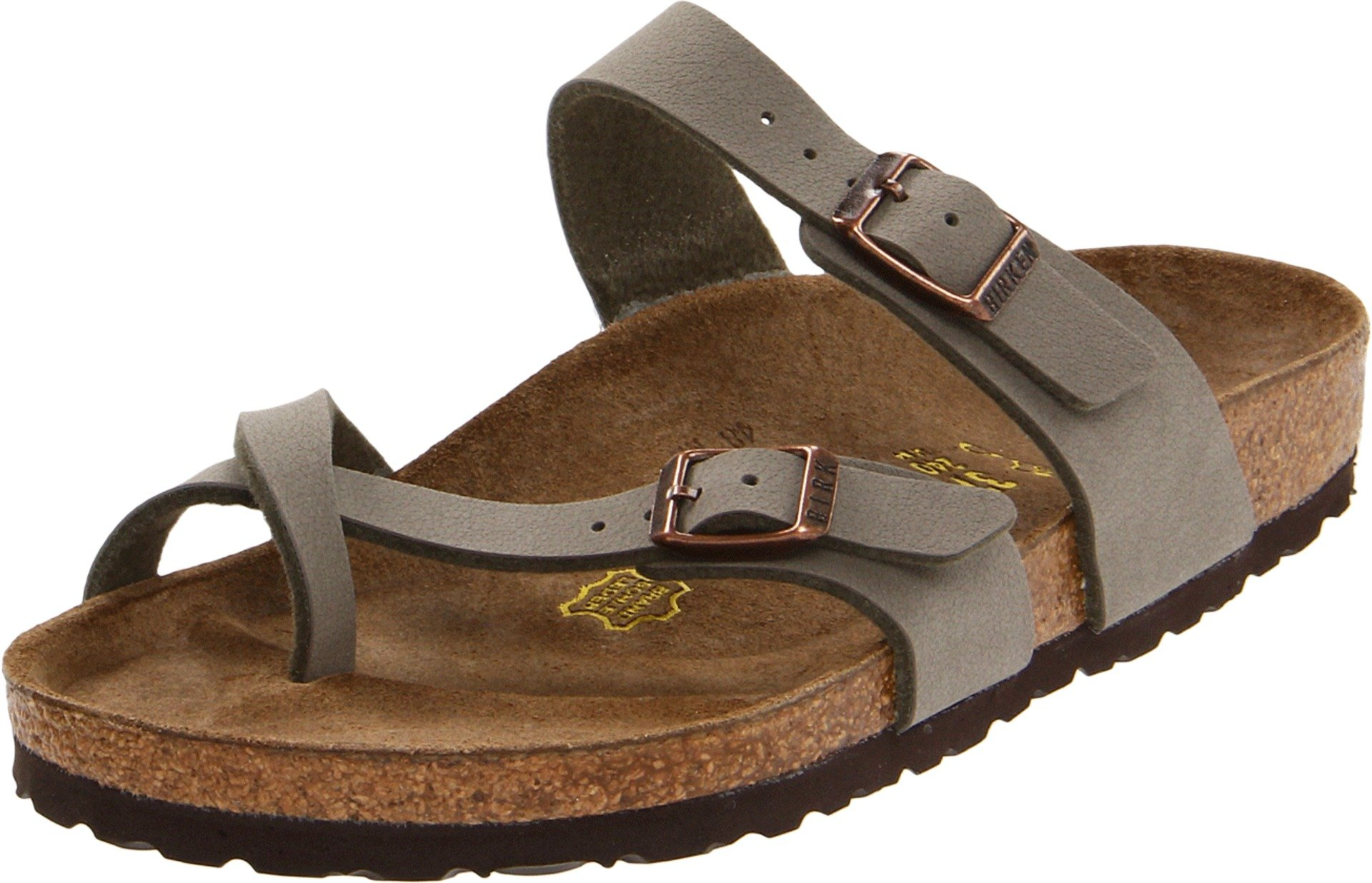 Birkenstock Women's Mayari Thong Sandal,Stone,EU Size 38/Women's US Size 7-7.5