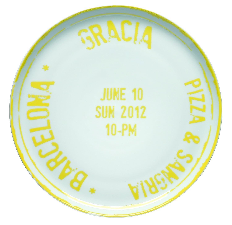 Bitossi Home MCA6 Plato para pizza de porcelana, Barcelona