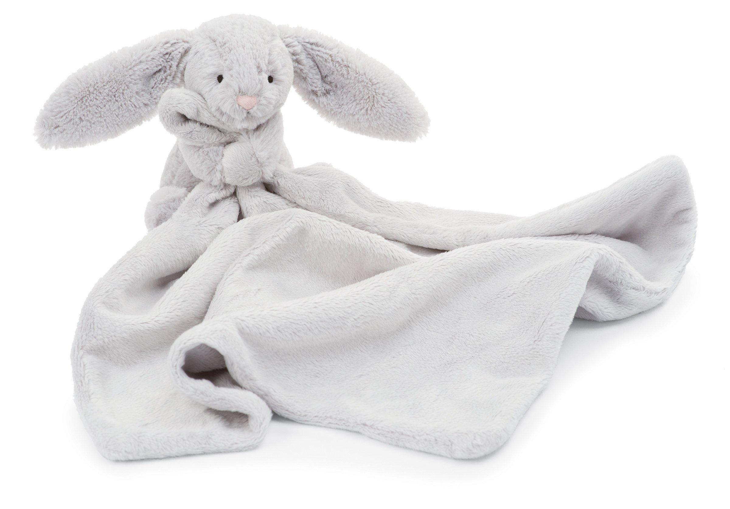 Jellycat Bashful Grey Bunny Baby Security Blanket by Jellycat
