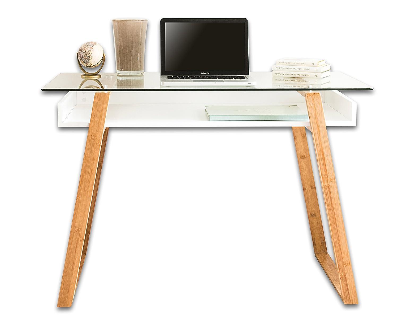 Amazing Bonvivo Designer Massimo Im Edlen Materialmix Glastisch Mit U In  Wei Auch Ideal Als Sekretr Brotisch With Designer Sekretr