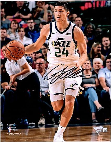 2cc236726 Grayson Allen Utah Jazz Autographed 8 quot  x 10 quot  White Dribble  Photograph - Fanatics Authentic