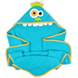 DII 100% Cotton, Machine Washable, Perfect Shower, Baby or Birthday Toddler 32x32 Hooded Towel for Infant to Toddler - Monster