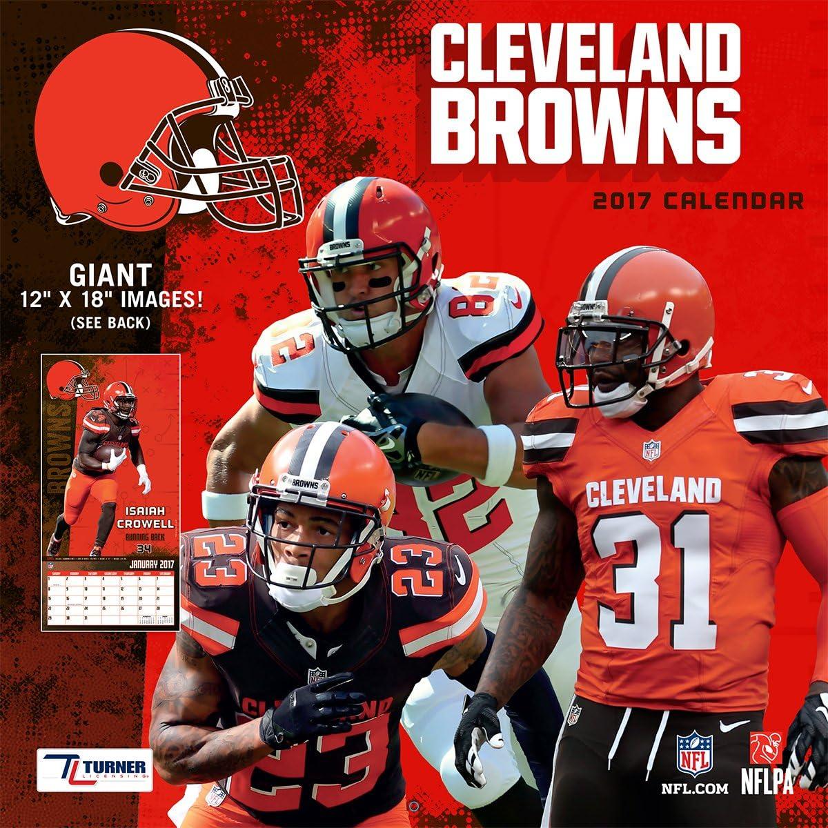 Turner Licensing Sport 2017 Cleveland Browns Team Wall Calendar, 12