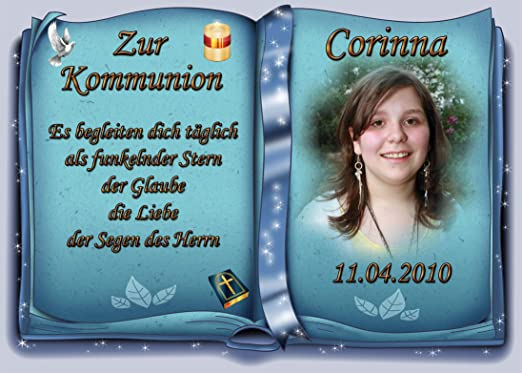 Tortenaufleger Fototorte Tortenbild Zur Kommunion Buchform Din A4