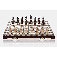 OLYMPIC - 35cm/14 In Handarbeit aus Holz Schachspiel