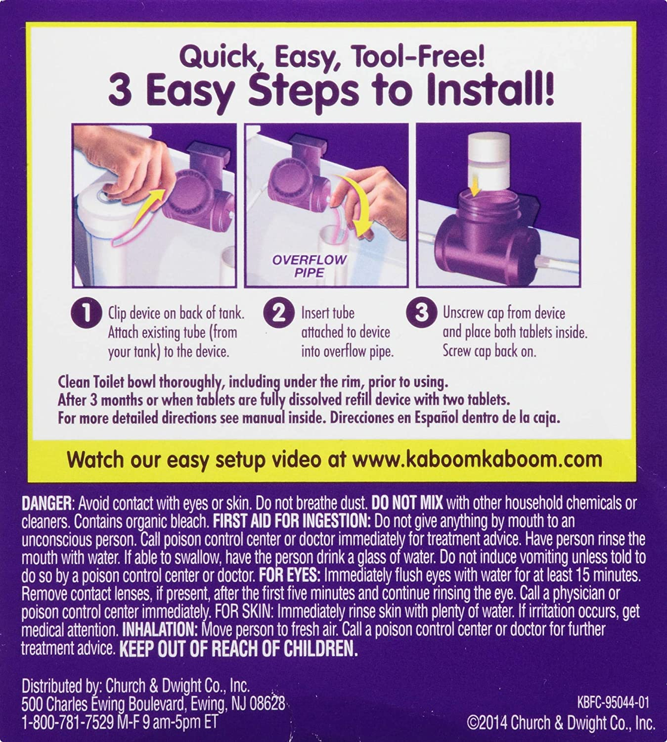 Kaboom Scrub Free Toilet Bowl Cleaner System