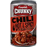 Campbell's Chunky Chili, Hot & Spicy Beef & Bean Firehouse, 19 Ounce (Packaging May Vary)