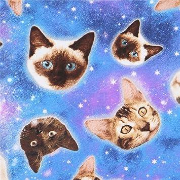 Tela elástica con Elastano y Animales, Gatos en el Espacio, Gato galáctico, colección: Novelty-Juvenile: Amazon.es: Hogar