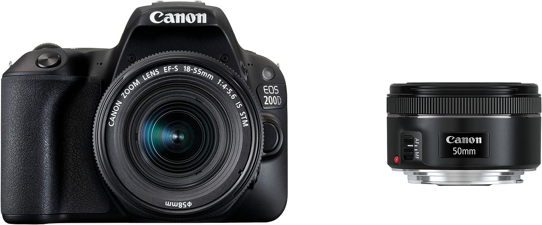 Canon EOS 200D + EF-S 18-55mm f/4-5.6 IS STM + EF 50mm f/1.8 STM ...
