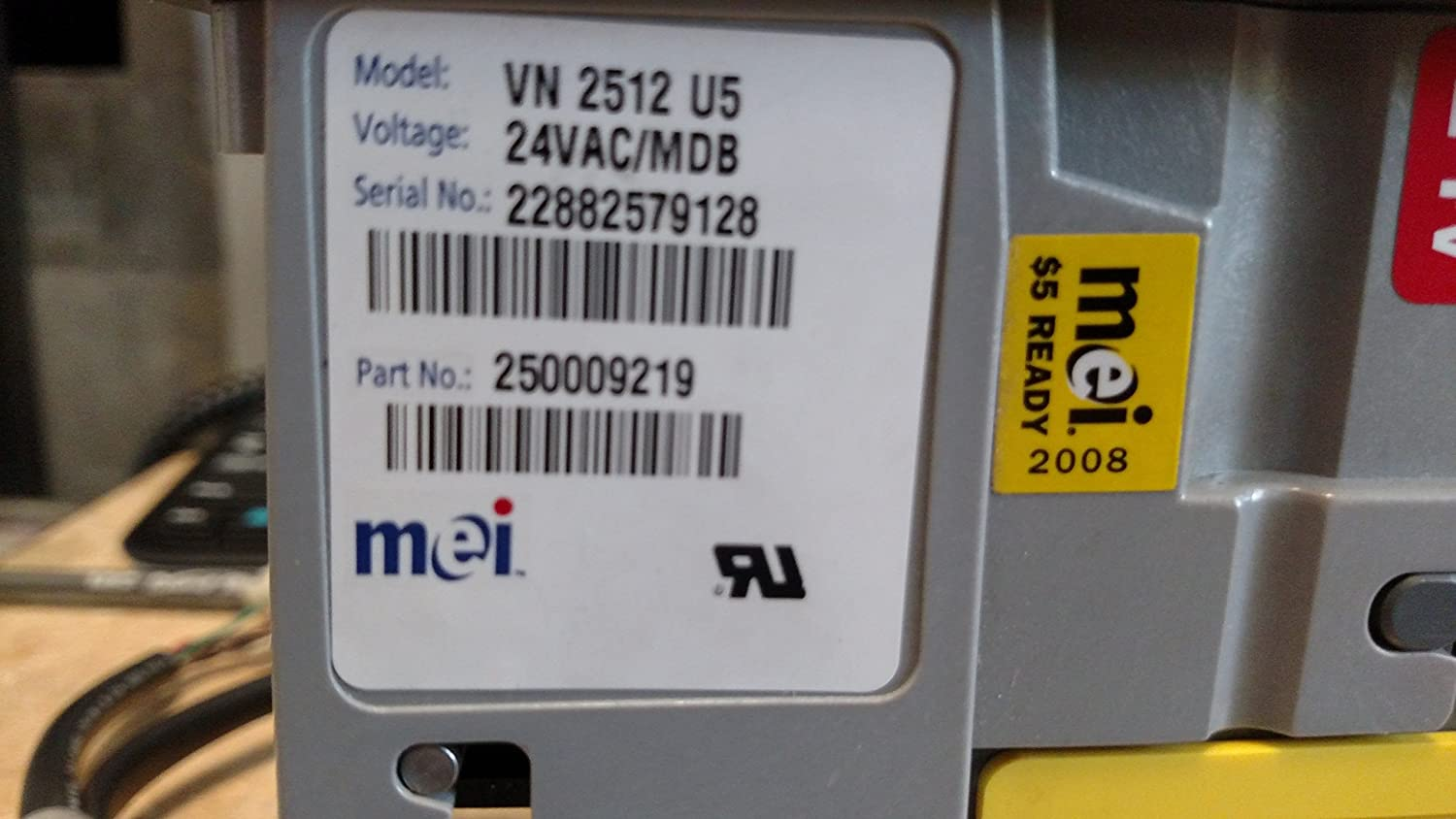 Amazon com: MEI Mars VN 2512 Bill Acceptor Validator Flash Port