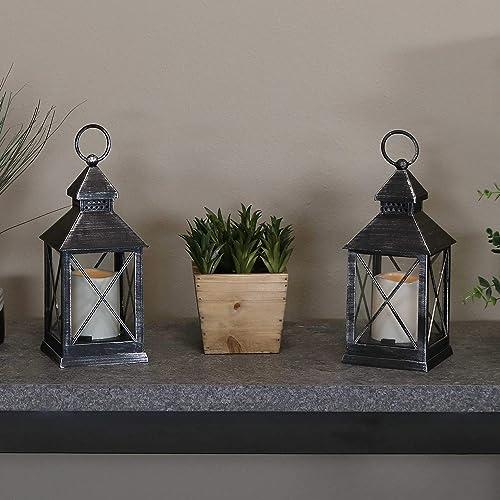 Sunnydaze Yorktown Indoor Decorative LED Candle Lantern