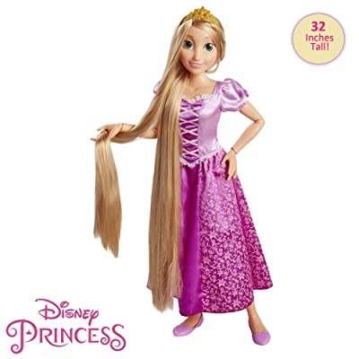 "Disney Princess Rapunzel 32"" Playdate, My Size Articulated Doll, Comes with Brush to Comb Her Long Golden Locks, Movie Inspired Purple Dress, Removable Shoes & A Tiara: Toys & Games"