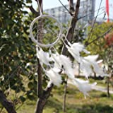 New! Circle-shaped Dream Catcher with Feathers Wall Hanging Decoration Ornament for Car or Wall Hanging