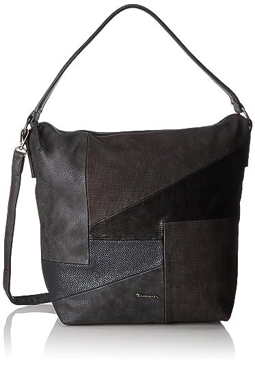 Tamaris Bimba Hobo Bag, Sacs portés épaule femme, Grau (Graphite Comb), 14x40x30 cm (B x H T)