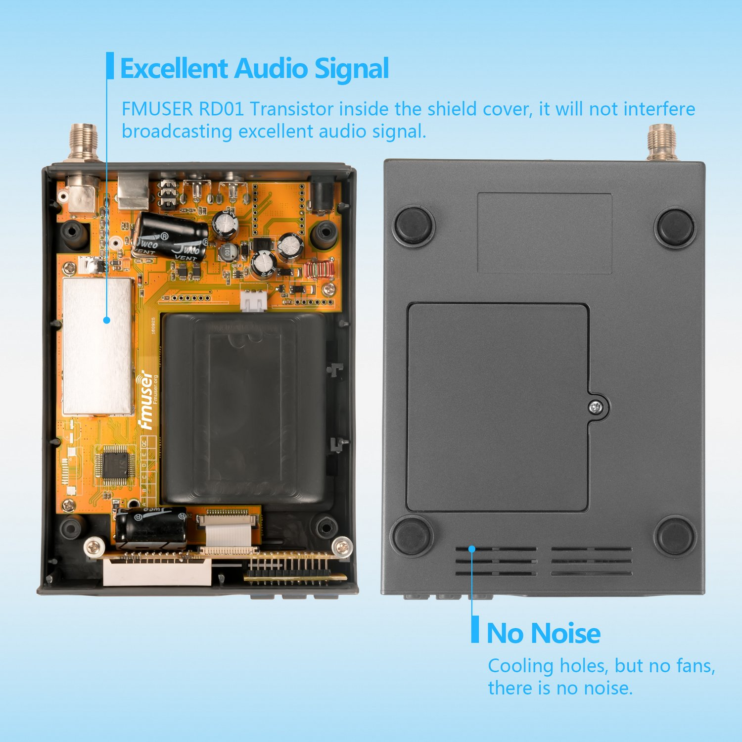Fmuser Fu X01ak 1w Power Adjustable Long Range Broadcast Fm Transmitter Circuit Pll Stereo Home With Antenna And Kit For Small Radio Station