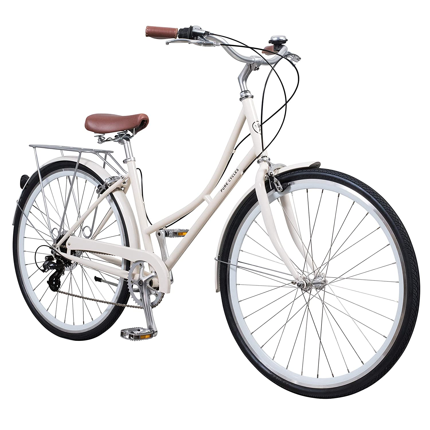 White Dutch Style 3-Speed Bicycle