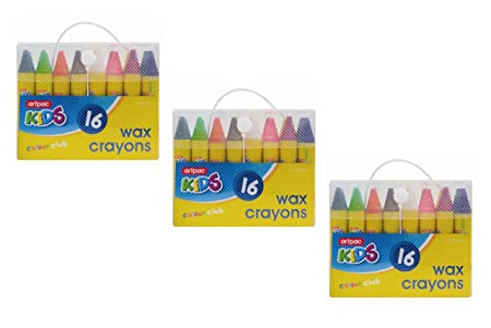 invero 48 pieces of chunky wax crayons ideal for all kids