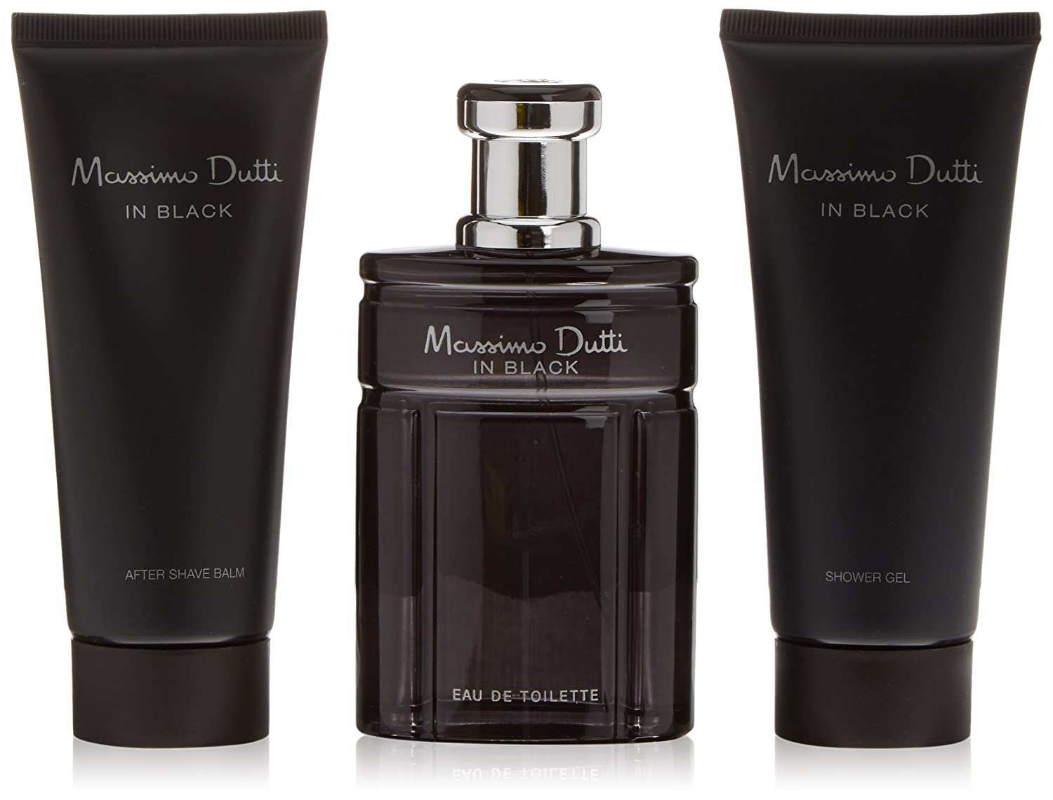 Massimo Dutti In Black Agua de Colonia + Bálsamo After-Shave + Gel de Ducha - 1 Pack: Amazon.es: Belleza
