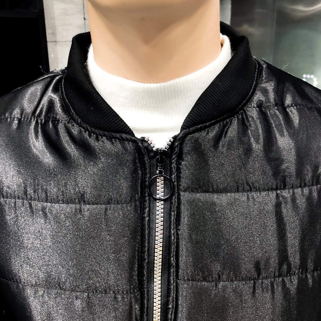 GNYD Cappotto da Uomo Elegante Invernale Caldo Giacca in Cotone Taglie Forti Cappotti Moda Paillettes Piumino Spesso Stile Corto Parka Outwear Tops M-XXXXL